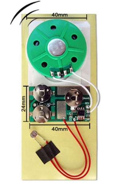 Soundmodul mit Lichtsensor zum Einkleben