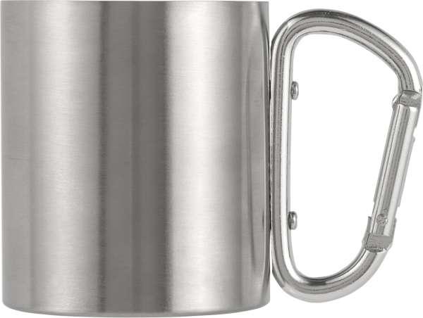 Doppelwandiger Kaffeebecher 'Carbine' aus Edelstahl (200 ml)