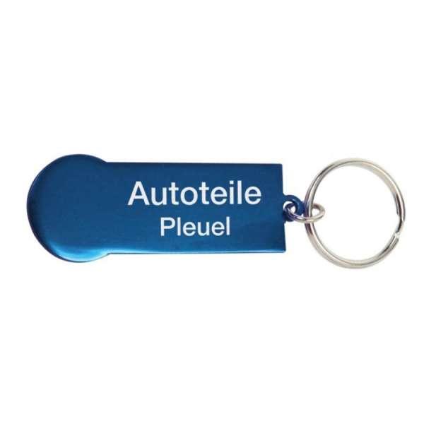 Einkaufswagen-Chip/Schlüsselanhänger Aluminium