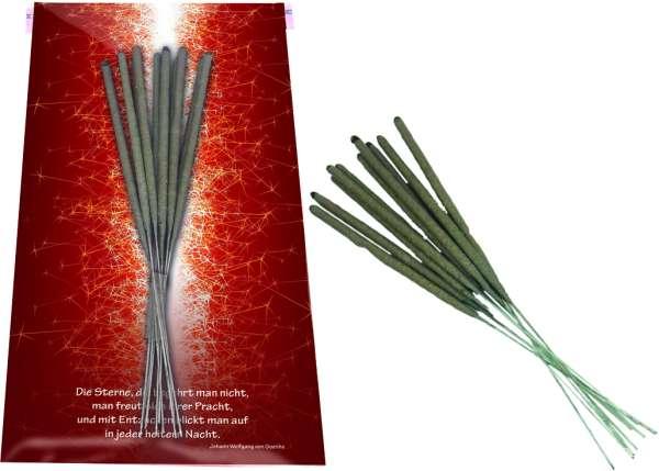 Weihnachtskarte Wunderkerzen