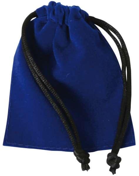 Samtbeutel blau