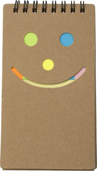 Notizbuch 'Happy face' aus Karton