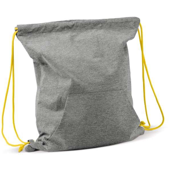 a23d7812d9aeb Jersey Rucksack als Werbeartikel bedrucken - Farbe  Grau   Gelb ...