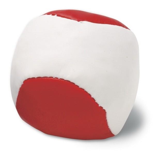 Jonglierball rot-weiß