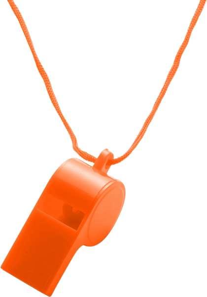 Trillerpfeife 'Attention' aus Kunststoff