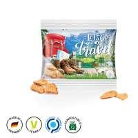 Brot Chips, kompostierbare Folie, transparent