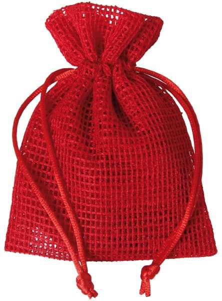 Netz-Säckchen 10 x 12,5cm rot