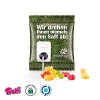 Fruchtgummi Minitüte 10g, Premium Bärchen, kompostierbare Folie, weiß