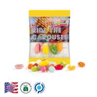 Jelly Beans, kompostierbare Folie, transparent