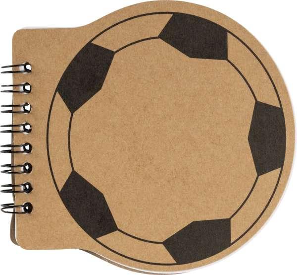 Notizbuch 'Goal' aus Karton mit Fußball-Aufdruck