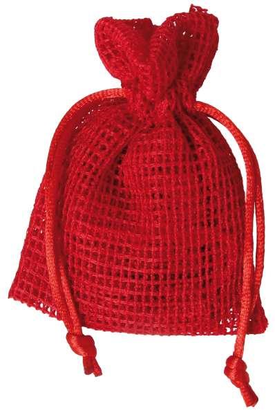 Netz-Säckchen 7,5 x 10cm rot