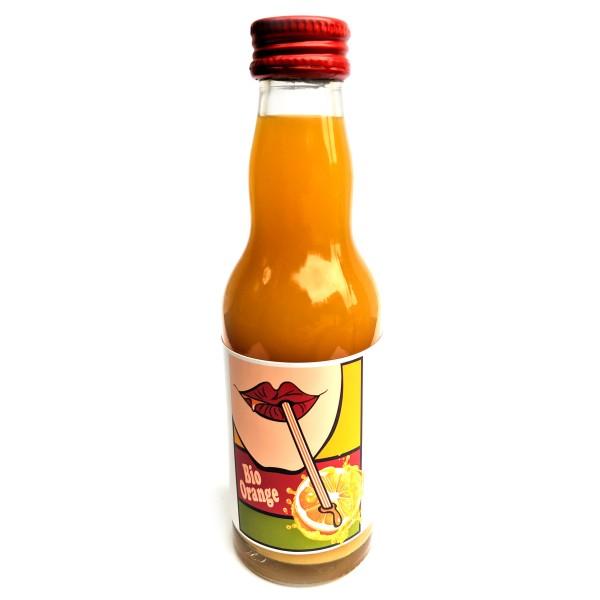 BIO Orangen-Saft 200 ml Glasflasche mit bedrucktem Label - pfandfrei