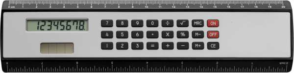 Rechner-Lineal 'Kongress' aus ABS-Kunststoff