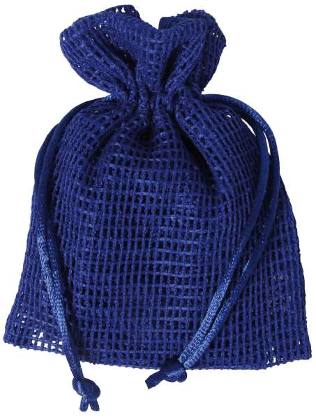 Netz-Säckchen 10 x 12,5cm blau