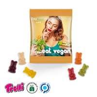 Vegane Bärchen Minitüte, kompostierbare Folie, weiß