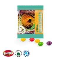 Skittles Fruits Minitüte, kompostierbare Folie, weiß
