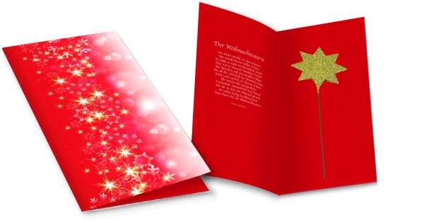 Weihnachtskarte Strahlender Stern
