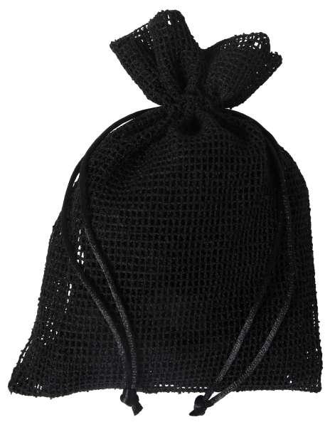 Netz-Säckchen 13 x 18cm schwarz