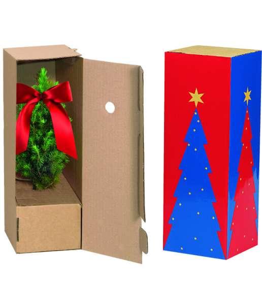 Schuber für Einzelversandkartonage kleine Weihnachtsbäumchen