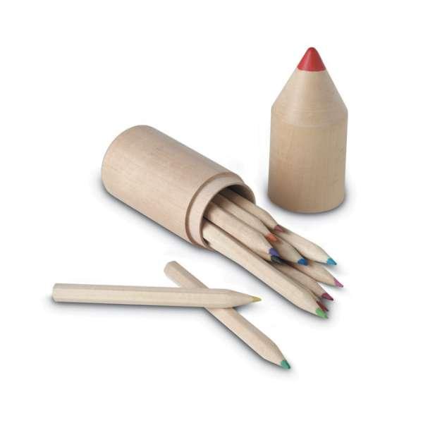 Holzbox mit 12 Stiften COLORET