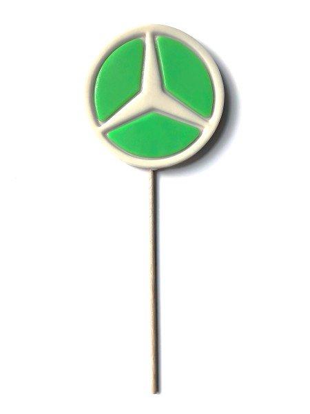 Logo-Lutscher mit individuellem 2D-Relief, Ø 8 cm
