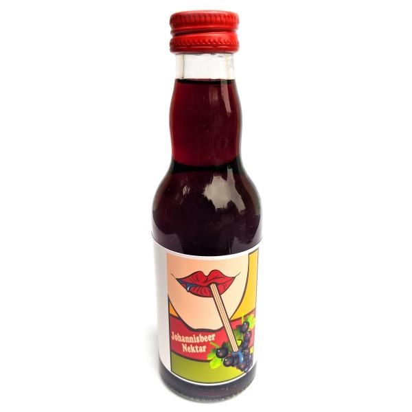 Johannisbeer-Nektar 200 ml Glasflasche mit bedrucktem Label - pfandfrei