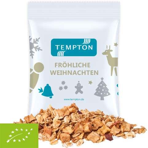 Bio Crunchy Weihnachtsmüsli Apfel-Zimt, ca. 60g, Maxi-XL-Tüte