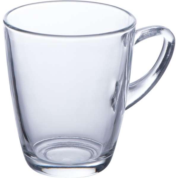 Tasse aus Glas mit einem Füllvermögen von 320 ml