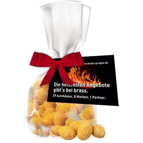 Erdnüsse Barbecue, ca. 30g, Express kompostierbarer Flachbeutel mit Werbekarte