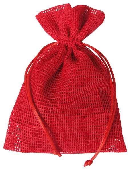 Netz-Säckchen 13 x 18cm rot