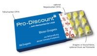 18er-Blister-Dragee Bonbons in Tablettenoptik - Dragee-Farbe: Grün (Apfel)