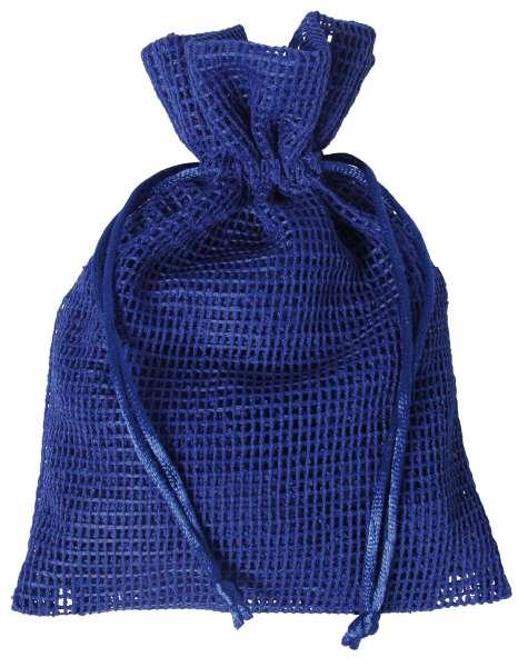 Netz-Säckchen 13 x 18cm blau