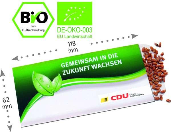 Samentütchen Bio Kresse-Samen 62 x 118 mm