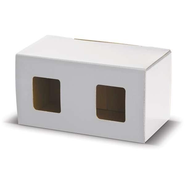 Verpackung für zwei Becher mit Fenster