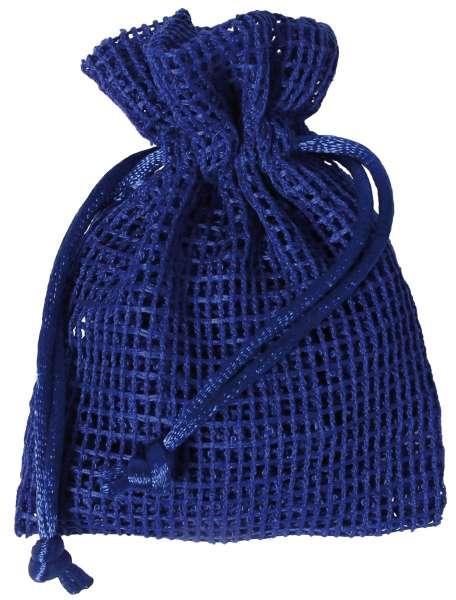Netz-Säckchen 7,5 x 10cm blau