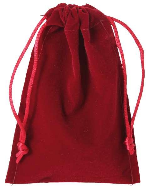 Samtbeutel groß rot